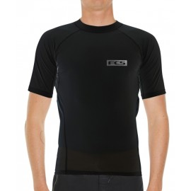 Lycra FCS Essential Manche Courte Rash Vest Noir