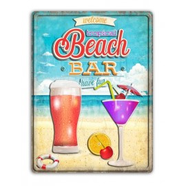 Beach Bar Metal Plate
