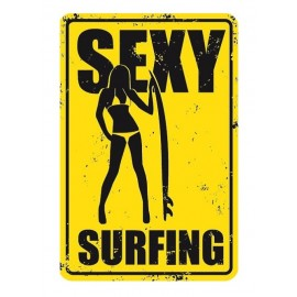 Sexy Surfing Metal Plate