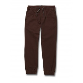 Junior VOLCOM Jogger Frickin Modern Tapered Mahogany Pants