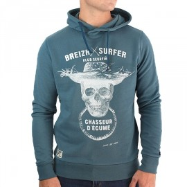 Hooded Sweatshirt Stered Breizh Surfer Petrol