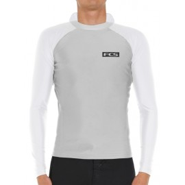 Lycra FCS Essential Hooded LS Rash Vest Grey
