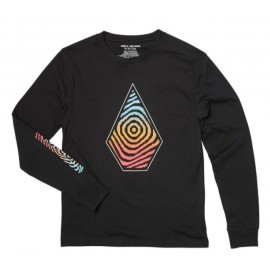 VOLCOM Junior Long Sleeve T-Shirt Descant Black