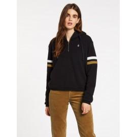 VOLCOM Color Coded Black Woman Sweatshirt