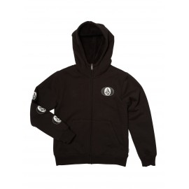 VOLCOM Junior Sherpa Lined Sweatshirt Stone Stack Lined Black