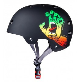 Casque Bullet Santa Cruz Screaming Hand Rasta