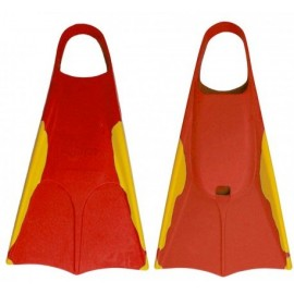 Orca Red Gold Bodyboard Fins
