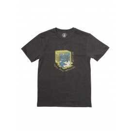 VOLCOM Junior Tune Into Black Tee Shirt