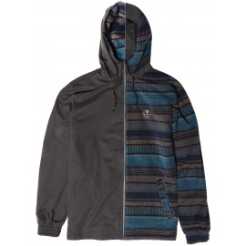 VISSLA Breakers II Men's Reversible Jacket Black Fade Lined
