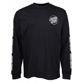 SANTA CRUZ Opus Dot Sleeves Long Sleeve Tee Shirt Black