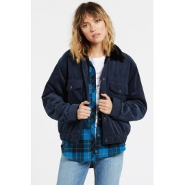 VOLCOM Women's Ribbed Jacket Army Sea Navy