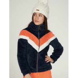 Junior Fleece Jacket PROTEST Tess Atlantic Blue Pink White