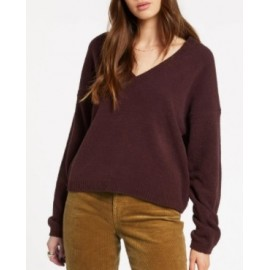 VOLCOM Stituations Women's Sweater Black Plum