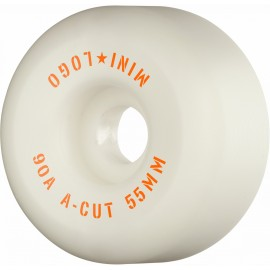Mini Logo Hybrid Wheels A Cut 55mm 90A White