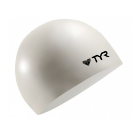 TYR White Silicone Swimming Cap