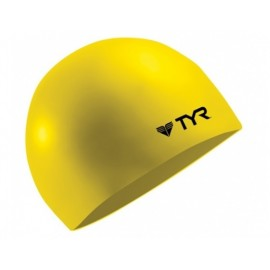 TYR Yellow Silicone Swimming Cap