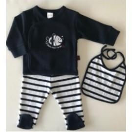 3 Piece Baby Set PAPYLOU Laye Marine
