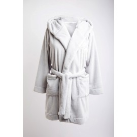 BANANA MOON Zarela Pilo Fleece Bathrobe Gray