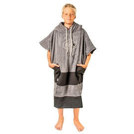Poncho All-In Junior Charcoal Black Waffle