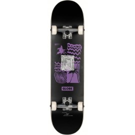 "Skate Complet Globe G1 Fairweather 7.75"" Black Purple"