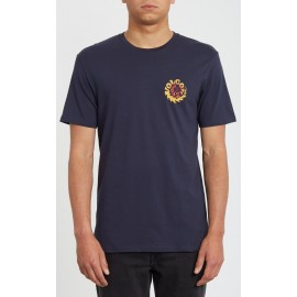 Tee Shirt Homme Volcom Throttle Navy