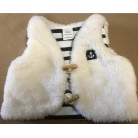 Baby PAPYLOU Hoedic Sleeveless Fleece Cream