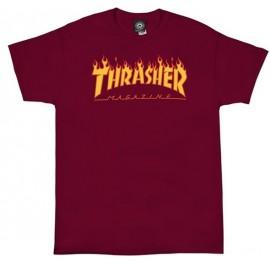 Tee Shirt Thrasher Logo Flame Cardinal Red