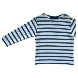 PAPYLOU Junior Long Sleeve Breton Shirt Navy White Bugatti