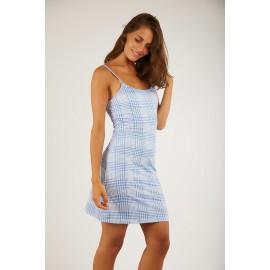BANANA MOON Paloma Carolyn Blue Lycra Beach Dress