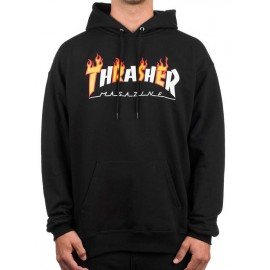 Sweat Thrasher Flame Mag Noir