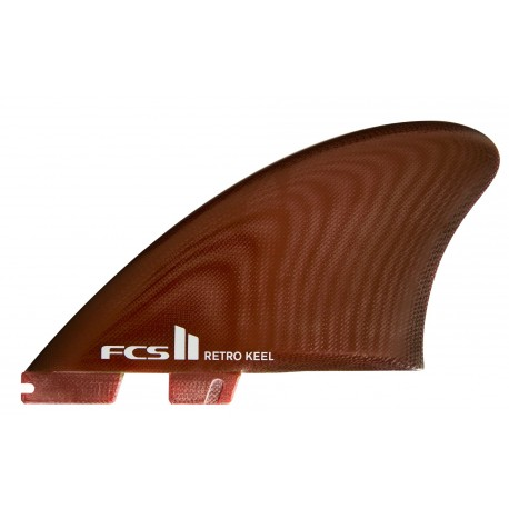 FCSII Fins Retro Keel PG Red