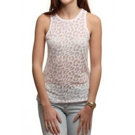 High Leopard Burnout White Hurley