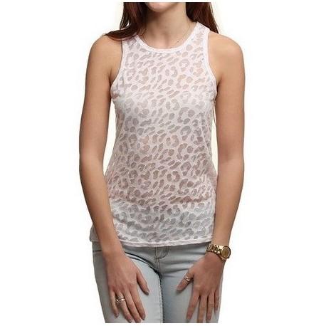 Haut Hurley Leopard Burnout White