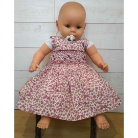 Hand-Embroidered Hand-Embroidered Baby Dress ROZENN Floral