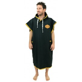 All-In Light Black Waffle Poncho