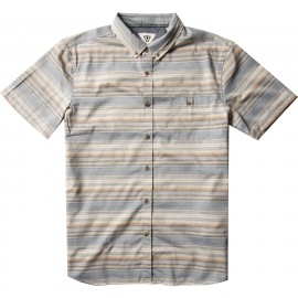 VISSLA Sprays Eco Harbor Blue Men's Shirt