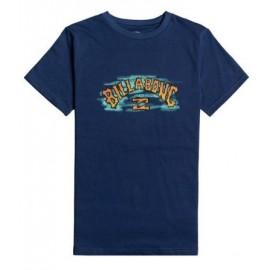 Junior Tee Shirt BILLABONG Arch Crayon Denim Blue