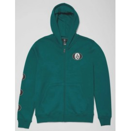 Junior VOLCOM Stone Stack Zip Spruce Green Sweatshirt