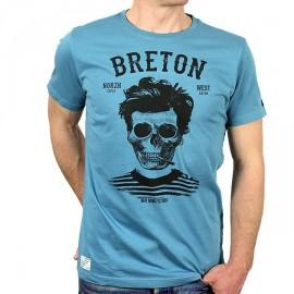 Tee Shirt Homme Stered Breton Bev Atav Lagon