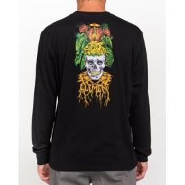 Tee Shirt Long Sleeves Man ELEMENT Timber Spectral Flint Black