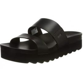 REEF Cushion Vista Hi Black Sandal