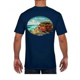 RIETVELD Surf Trippin Navy Men's Tee Shirt