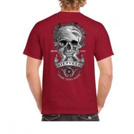 Tee Shirt Homme RIETVELD Siren Skull Red