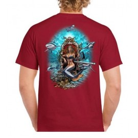 RIETVELD Shark Queen Red Men's Tee Shirt