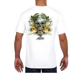 Tee Shirt Homme RIETVELD Surf Skull White
