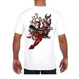 RIETVELD Squid Attack White Men's Tee Shirt