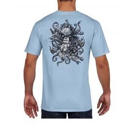 RIETVELD Kraken Time Light Blue Men's Tee Shirt