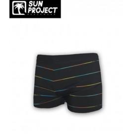 SUN PROJECT Multicolored Stripes Child's Swim Boxer