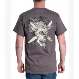 Tee Shirt Homme RIETVELD Surf Reaper Charcoal