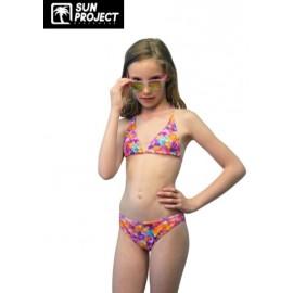 Maillot de bain 2 Pieces Enfant SUN PROJECT Bonbons Rose